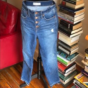 """Madewell jeans 10"""" high rise skinny size 27"""
